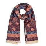 Caxemira reversível de 180*65cm das mulheres como o lenço tecido feito malha morno do xaile do inverno (SP251)