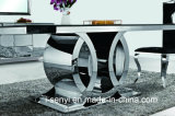 Tableau dinant d'acier inoxydable en verre Tempered de meubles de salle à manger premier