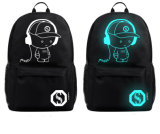 Koreanische Art-beiläufige Rucksack-Schule-Beutel-Laptop-Beutel-Nachtleuchtende USB-Aufladeeinheits-im Freienrucksack