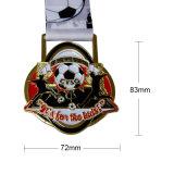 昇進のためのエナメルが付いているカスタムフットボールメダル