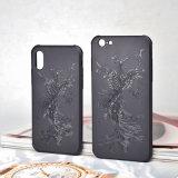 Il rilievo dello specchio frega il coperchio della cassa del telefono di TPU per il iPhone