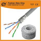 OEM UTP FTP 통신망 케이블 근거리 통신망 케이블 Cat5e Cu 지휘자 LSZH/PVC 재킷 회색 색깔
