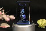 Cubo cristalino personalizado manera de la foto 3D/marco de cristal de la foto del cubo