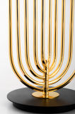 Lámpara creativa de la decoración del dormitorio de la personalidad que enciende la lámpara de vector blanca del hierro