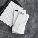 Просто крышка случая телефона мрамора TPU типа для iPhone