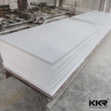 Superficie solida acrilica pura bianca di Staron del ghiacciaio di Kkr 12mm