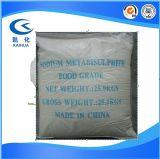 Certificado ISO Sodium Metabisulfite Food Grade, el 98%