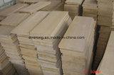 Pavimento de madera de la vena más barata de piedra arenisca de grano amarillo mosaico de piedra arenisca de color beige &