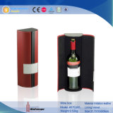 Comercio al por mayor de cuero de lujo solo Boxttle de almacenamiento de vino Caja de regalo (5753)