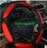 Universale di cuoio rosso Skidproof del PVC 36cm del coperchio del volante di Nubuck