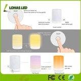 Colore ricaricabile di RGB della lampada della Tabella del sensore di tocco del USB che cambia l'indicatore luminoso astuto di notte per la decorazione domestica