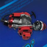 49/50cc rojo/azul de la mini de la motocicleta del bolsillo de la bici asamblea de motor