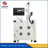 станок для лазерной маркировки волокон белого цвета маркировки на темном из анодированного алюминия