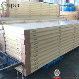 El calor aislado e impermeabiliza el panel de emparedado de la PU para los almacenes de congelación