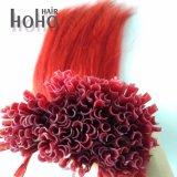 Preço grossista Red 18 polegada I Dica de cabelo humano ramal