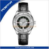 La montre-bracelet de calendrier de cadran de configuration de tube de pendules des hommes automatiques de mode