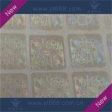 Autocolante com holograma transparente personalizada Usar cartão de plástico ou de papel