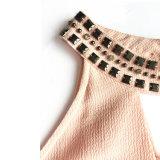 Camicetta Sleeveless della donna della più nuova decorazione in rilievo Handmade di stile di estate
