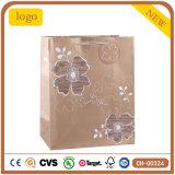 Blumen-Musterbrown-Form-Bekleidungsgeschäft-Geschenk-Papiertüten