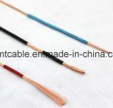 Fio flexível isolado PVC de cobre contínuo do condutor rv