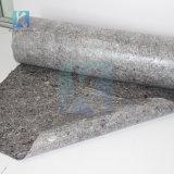 رماديّ مستهلكة حبل لوثق مركب صوف حصيرة مع [ب] رقيقة معدنيّة