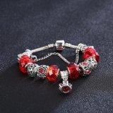 Juwelen van de Armband van de Parels van het Glas van de Gift DIY van Kerstmis van de manier de Rode Regelbare