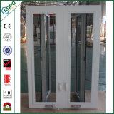 Het Duitse Veka Witte Dubbele Verglaasde Openslaand raam van pvc Handcrank met Dubbel Comité