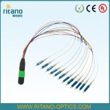 MPO MTP-LC Om3 à plusieurs modes de fonctionnement 10-100g 144cores Patchcord de fibre optique