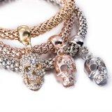 Juwelen van de Armband van de Armband van de Diamant van Zircon van de manier Multilayer Schedel Gestalte gegeven