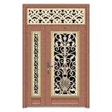 Puerta principal clásica coloreada del diseño de la puerta de la seguridad del acero inoxidable