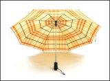 Автоматический зонтик шотландки отверстия и изготовленный на заказ зонтик печати