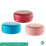 Macaron de tres colores Una sola pared del frasco de plástico PP para la crema, los ojos, lápiz de labios, la mano de la muestra