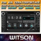 De Vensters van Witson zenden StereoSpeler DVD voor de Nieuwe Versie van KIA via de radio uit Cerato Sportage
