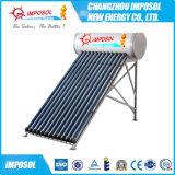 Calefator de água pressurizado estojo compato da energia solar do ecrã plano