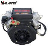 De luchtgekoelde Dieselmotor van Twee Cilinder met de Tank van de Brandstof (2V86F)