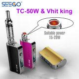 Sigaretta elettronica di wattaggio registrabile di erbe del re di Seego Vhit & del vapore di Tc-50W