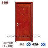 Dernière conception populaire porte en bois porte de la salle intérieure de porte