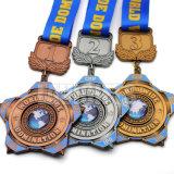 Medaglione d'ottone d'argento antico del premio di sport del metallo del ricordo timbrato sfida a buon mercato su ordine calda di vendita