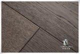 Suelos de madera maciza de roble, madera dura, color gris, cepillado, Handscraped
