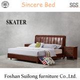 최고 디자인 현대 미국식 가죽 침대