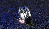 까만 용 거만한 개성 자체 남자의 반지 넓은 단 하나 반지 강철 용 테일 반지