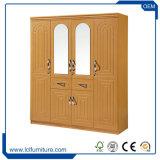 MDF van de Douane van China van de Groothandelsprijs van de fabriek het Moderne Kabinet Armoire van de Garderobe