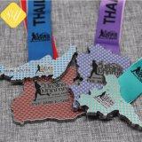 Venda por grosso de desporto personalizados de alta qualidade Bronze medalha de metal promocional barata