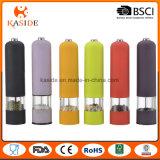 Moinho elétrico plástico de sal & de pimenta da embalagem colorida com luz
