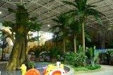 큰 부채꼴 야자수 7m의 인공적인 플랜트 그리고 꽃