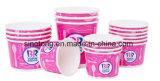 Vaso de papel desechables / copas de helado de recipiente con tapa