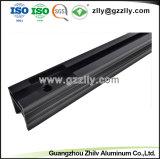 Kundenspezifischer schwarzer anodisierter LED-Aluminiumstrangpresßling für hellen Streifen-Rahmen