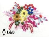 의류를 위한 패치가 최신 판매 새로운 디자인 자수에 의하여 꽃이 핀다