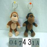 사랑스러운 디자인 동물성 원숭이 주문 견면 벨벳 열쇠 고리