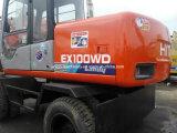 Usadas de excavadora Hitachi EX100 Original de la excavadora de rueda Japón